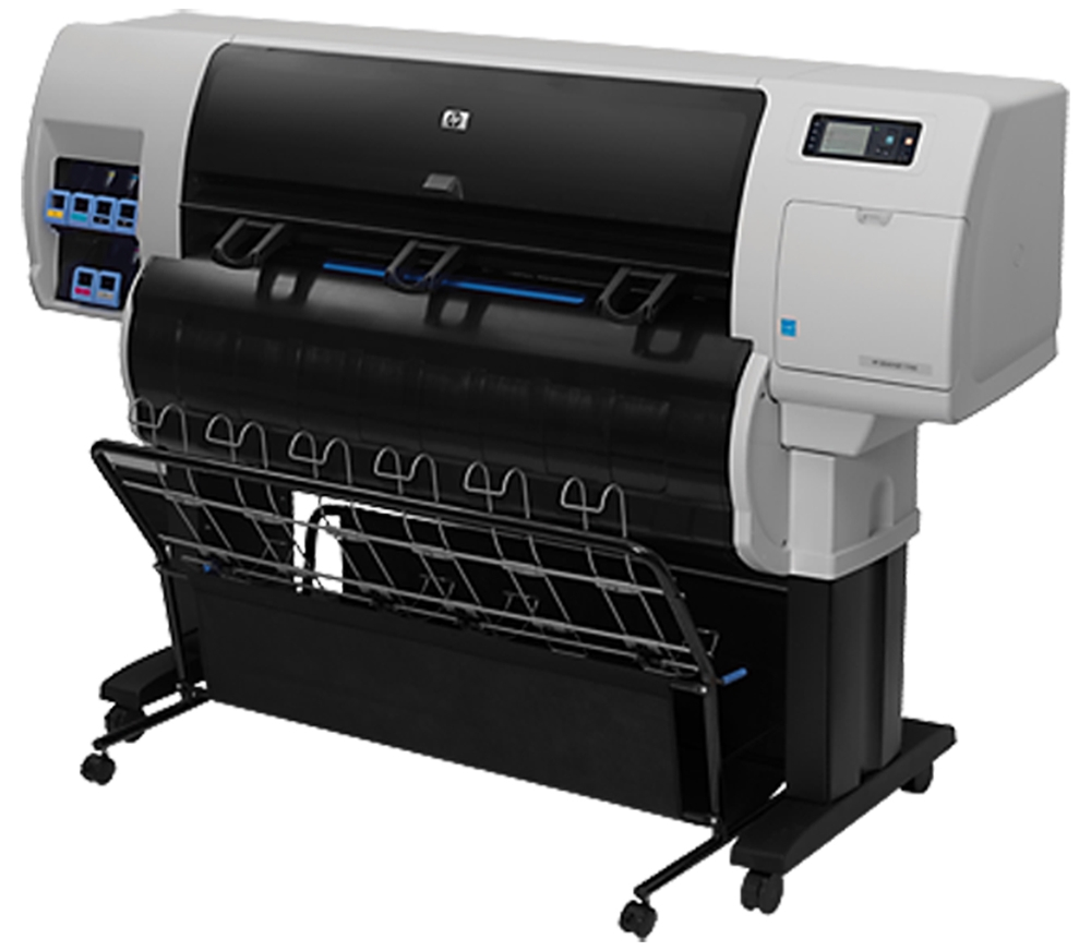 HP DesignJet T7100 3 Roll 36 Color Inkjet Printer