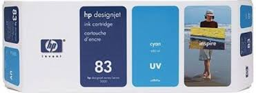 HP DesignJet 5000 Series Inkjet Cartridge - Cyan UV